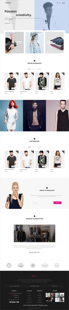 Wenro is a clean, stylish and modern design responsive bootstrap HTML #template for stunning fashion #shopping #eCommerce website with 30 niche homepage layouts to download & live preview click on image or Visit #webdesigns