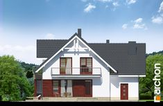 Dom w tamaryszkach 2 (NT) Home Fashion, Cabin, Architecture, House Styles, Villas, Home Decor, Cottages, Home, Detached House