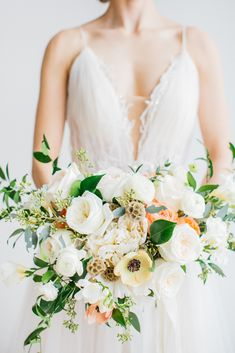 We love this bridal bouquet! It's so unique and we loved working with this bride to bring out her personality in her bouquet. Blooms Florist, Our Wedding, Personality, Bouquet, Dreams, Weddings, Bride, Photo And Video, Wedding Dresses