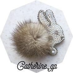 54 отметок «Нравится», 3 комментариев — Catherine Gaponyenko (@catherine_gp) в Instagram: «Пушистый донецкий кролик)#брошьизбисера#брошькролик#брошьручнойработы»