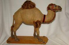 "OLD GERMAN CAMEL FELT PAPER MACHE PULL TOY 11.5""   eBay"