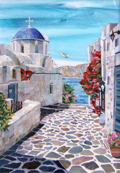 Mosaic Tile Art, Mosaic Artwork, Mosaic Crafts, Mosaic Projects, Mosaic Glass, Glass Art, Mosaic Designs, Mosaic Patterns, Art Designs