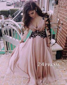 Amazing Sweetheart Chiffon long lace prom dress, evening dress – 24prom #prom #promdress #dress #promdresses