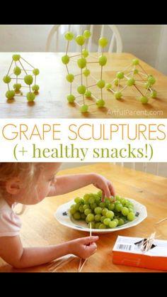 Kinex with grapes- food art!