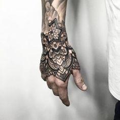 Floral tattoo on katies hip tattoo next image - darkartists d Tribal Hand Tattoos, Mandala Hand Tattoos, Hand Tats, Hand Tattoos For Guys, Mandala Tattoo Design, Forarm Tattoos, Forearm Tattoo Men, Leg Tattoos, Arm Band Tattoo