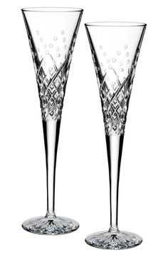 Waterford 'Happy Celebrations' Lead Crystal Champagne Flutes (Set of 2)