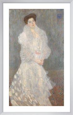 Portrait of Hermine Gallia Art Print by Gustav Klimt at King & McGaw bedroom