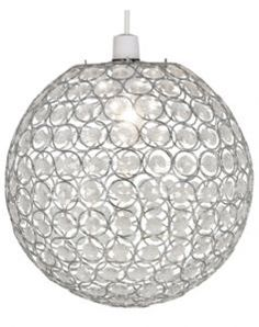 Buy Living Clear Crystal Globe Light Shade at Argoscouk Your