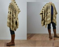 ralph lauren southwest | Palomino Southwest Indian Blanket Ralph Lauren Poncho Sweater Cape s M ...