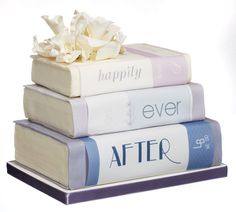 The perfect wedding cake for a bookworm! Cake by Roxycakes.