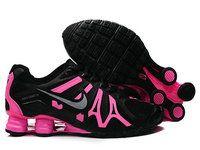 wholesale dealer 39465 fd374 chaussures nike shox turbo+gris femme (noir argent rose) pas cher