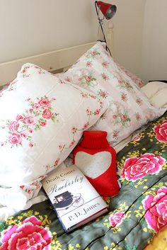 Cozy vintage bedroom.