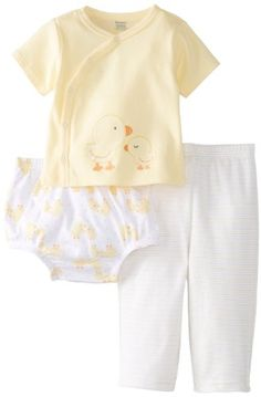 10$ amazon Gerber Unisex-Baby Newborn 3 Piece Set Side-Snap Shirt Pant Diaper Cover-Ducks, Yellow, 3-6 Months Gerber http://www.amazon.com/dp/B00HQ9GUIO/ref=cm_sw_r_pi_dp_qQeEub1GEJD4Q