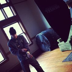 Behind the scenes of a photoshoot with French montana and Pelle Pelle in Detroit, MI