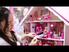 """Como fazer """"Guarda-Roupa Closet"""" com Papelão, para Barbie e Outras Bonecas (#4 - Coisas de Quarto) - YouTube"""