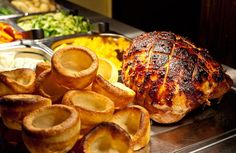 Good quality carveries with locally reared meat and delicious in season veg served family style to the table are a cost effective way to serve a large number of guests. Sunday Carvery, Sunday Roast, Toby Carvery, Sharing Platters, British Pub, Pubs And Restaurants, Roast Dinner, Course Meal, Food Trends