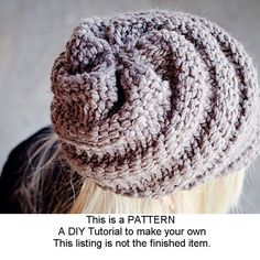 Instant Download Knit Hat Knitting Pattern Knit Hat door pixiebell