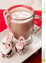 Image result for hot chocolate with marshmallows and candy canes