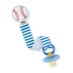 Mud Pie - Baseball Pacifier Clip 178527 for sale online Mud Pie Baby, Pacifier Holder, Baby Feeding, Baby Baseball, Ebay, Baby Foods, Kids Nutrition