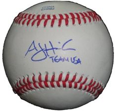 """AJ Hinch Autographed ROLB Baseball with """"Team USA"""" Inscription! Oakland Athletics, Kansas City Royals, Proof Photo by Southwestconnection-Memorabilia. $39.99. This is a AJ Hinch autographed Rawlings official league baseball with """"Team USA"""" inscription. AJ signed the ball in blue ballpoint pen. Check out the photo of AJ signing for us. Proof photo is included for free with purchase. Please click on images to enlarge. 1"""