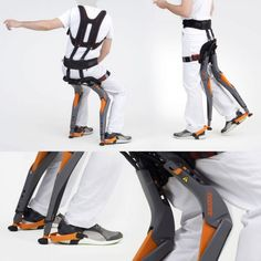 Sapetti – Chairless Chair #industrialdesign #design #productdesign #chair Latest Technology Gadgets, Medical Technology, Wearable Device, Wearable Technology, Aide Handicap, Exoskeleton Suit, Orthotics And Prosthetics, Ms Project, Prosthetic Leg