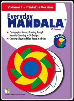 Printable Mandalas - Everyday Mandala for Children Toddler Learning Activities, Educational Activities, Activities For Kids, Photographic Memory Training, Glenn Doman, Hidden Pictures, Right Brain, Mandala Coloring Pages, Brain Training
