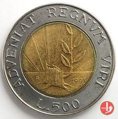 500 Lire S.Marino  16 secoli rivolti al futuro1993