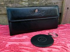 Womens Black Leather Money Purse & Keyring by Fitzroy & Mason, 16 Credit Card in Clothes, Shoes & Accessories, Women's Accessories, Purses & Wallets | eBay