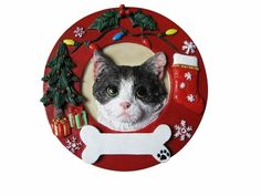 Cat Ornament (Set of 2)