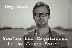 catholicpickuplines:  Hey girl, you're the Crystalina to my Jason Evert. Reference