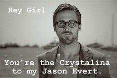 catholicpickuplines:  Hey girl, you're the Crystalina to my Jason Evert. Reference