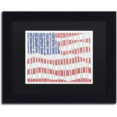 Trademark Fine Art 'America?s Pastime' Canvas Art by Viz Art Ink, Black Matte, Black Frame, Assorted
