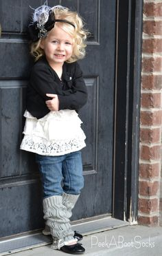 Lil Boot Warmers for girls Light Gray by PeekABootSocks on Etsy, $18.00