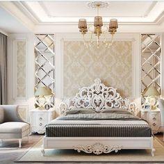 Modern Luxury Bedroom, Luxury Bedroom Design, Bedroom Furniture Design, Home Room Design, Master Bedroom Design, Luxurious Bedrooms, Grey Bedroom Decor, Master Bedroom Interior, Home Bedroom