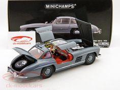 Mercedes-Benz 300 SL 1954 grey 1:18 Minichamps