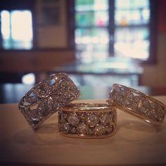 'bubble' diamond ring, filigree floral diamond ring, butterfly diamond ring.