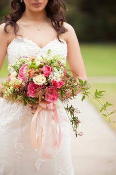 Beautiful and Elegant Bridal Bouquet from an English Garden Wedding #wedding #bouquet #bride #bridal #flowershop #florist #flowers #floral