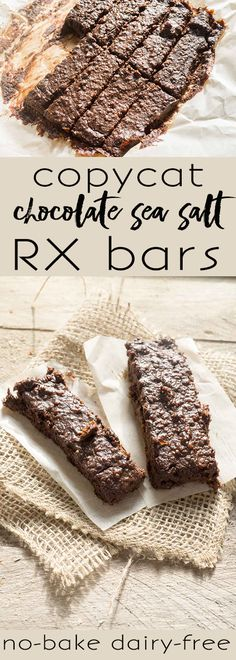 chocolate sea salt rx bar: 12g protein | no bake | easy-to-find ingredients! - Tap on the link to see the newly released collections for amazing beach bikinis! :D