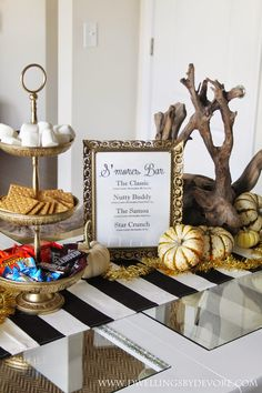 A Simple Fall Party with S'mores bar
