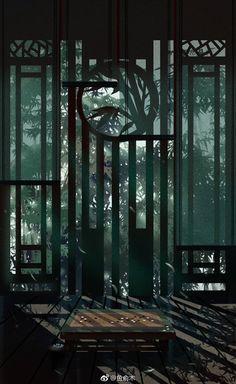 Fantasy Landscape, Landscape Art, Fantasy Art, Chinese Drawings, Chinese Art, Pandaren Monk, Episode Backgrounds, Art Asiatique, Anime Scenery Wallpaper