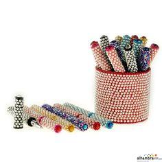 Boligrafo perlas colores