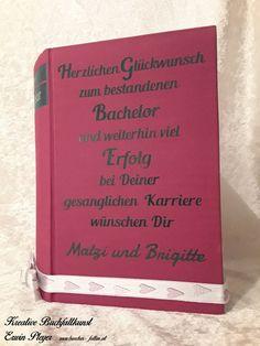 Buchcover mit Wunschtext in persönlicher und individueller Gestaltung The Secret, Books, Career, Cordial, Handarbeit, Creative, Livros, Livres, Book