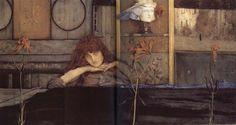 I lock my dorr upon myself, Fernand Khnopff