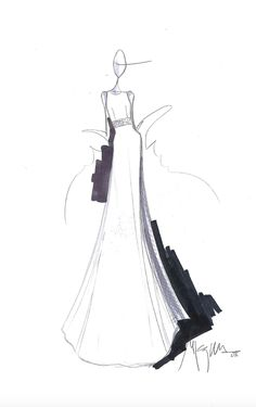 Sketches of a new collection Wedding dresses JESUS PEIRO 100% Made in Spain