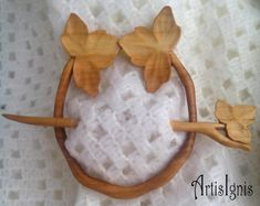 This Beautiful Handcarved Wooden Shawl Pin Will Be MADE TO ORDER.  Exquisitely Hand Carved Shawl