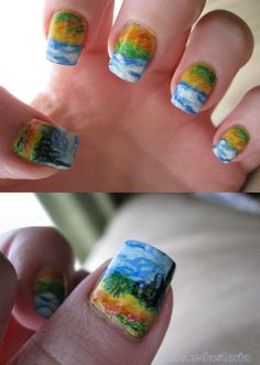 Van Gogh Nails, how awesome is that!