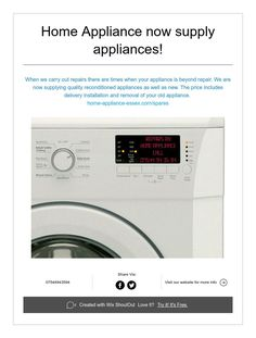 Home Appliance now supply appliances! Home Appliances, House Appliances, Appliances