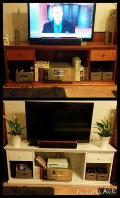 Tv-taso ennen ja jälkeen maalauksen