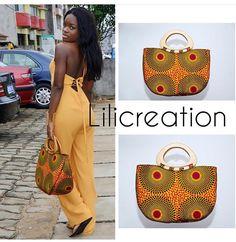 Diy African Jewelry, African Accessories, Handmade Fabric Bags, Handmade Handbags, Afro, Ankara Bags, Leather Bag Pattern, Diy Sac, How To Make Handbags