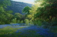 """A Bluebonnet Oil Painting titled """"Blue Staccato"""" - Hagerman Art Blog by Artist William """"Byron"""" Hagerman"""